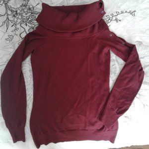 Theory burgundy sweater size S